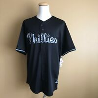 Philadelphia Phillies Majestic MLB Men's Size Baseball Jersey --Black