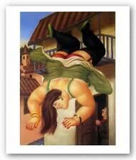 FIGURATIVE ART PRINT Over the Balcony Fernando Botero