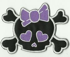 ECUSSON PATCHE  THERMOCOLLANT PATCH GIRL VIOLET SKULL