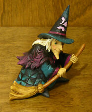 Jim Shore Heartwood Creek Mini #4024653 WITCH ON BROOM, NEW from Retail Store