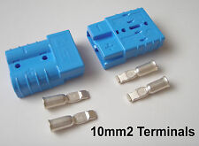 GENUINE ANDERSON CONNECTOR - PAIR SB50 AMP 10mm CABLE TERMINALS, REMA  BLUE x 2