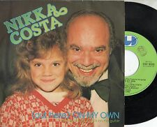 NIKKA COSTA disco 45 giri MADE in ITALY On my own 1981 STAMPA ITALIANA
