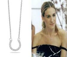 """""""Sex In The City Carrie"""" .925 CZ Cubic Zirconia Horseshoe 16"""" Pendant Necklace!"""