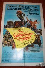 GOLDEN VOYAGE OF SINBAD1973 unused folded MOVIE POSTER