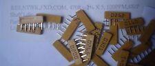 25pcs Vishay 470R 2% 100ppm 6 pin Type RZ  Thick Film Resistor Networks