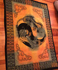 HUGE 79in X 57in Yin And Yang Dragon Tapestry
