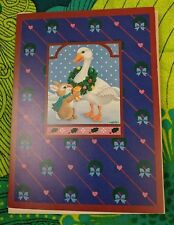 Current Christmas Card Goose w/ Wreath, Bow, Bunny Portraits & Patterns Series