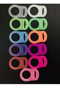 1  Anello adattatore in silicone  ciucci MAM o NUK  Clip Rings Adapters MAM NUK