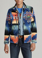 Polo Ralph Lauren Large Beacon Fleece Jacket Southwestern Indian RRL Aztec Rugby