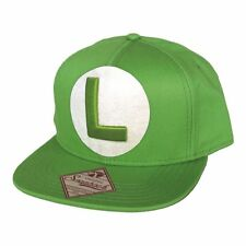 NINTENDO Super Mario Bros Luigi Logo Snapback Baseball Cap (Green