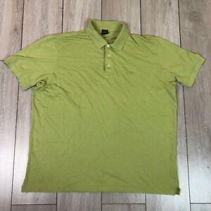 Hugo Boss Polo Shirt 3XL Green Pima Cotton