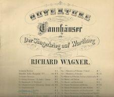 Spartito Musicale Tannhauser di Richard Wagner Ouverture per Pianoforte 1910