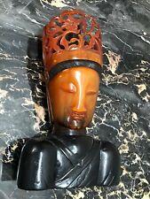 CHINA - HORN SKULPTUR - BUDDHA 19-TES JHDT - SEC. XIX