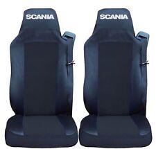 SCANIA R//P//G-series 2005-2013 Full ECO LEATHER SEAT COVERS black/&black diamonds