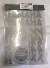 Adesivi adesivo Yamaha TMax T Max scritta scritte logo diapason argento grigio