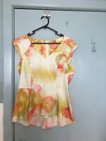 Veronica Maine yellow orange and red top in size 12