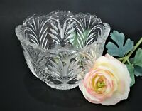 NWT FIFTH AVENUE 24% FULL LEAD HANDCUT SCALLOP RIM CRYSTAL BOWL MADE IN POLAND