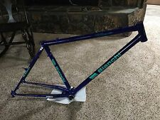 "Vintage Bianchi ibex lugged fully rigid mountain bike 17"" frameset purple rare"