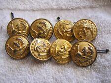 Lot 8 US Navy Military Buttons Hilborn Hamburger