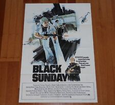 "ORIGINAL MOVIE POSTER ""BLACK SUNDAY"" 1977 UK FOLDED ONE SHEET FRANKENHEIMER"
