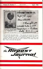 The Airpost Journal April 1986 First British Balloon Mail