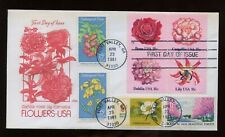 SPECIAL SALE US First Day COMBO Cover (Flowers) 1981 Fort Valley, Georgia