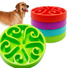 No Slip Plastic Pet Dog Slow Eating Bowl Water Food Feeder Dish Anti-Gulping