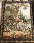 Romantic Dame E Lago Italian Made Large Vintage Tapestry Wall Hanging