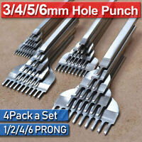 1/2/4/6 4PACK/Set Leather Prong Punch Chisel Hole Punches Stitching Craft Tools