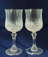 Beautiful Pair of Cristal d' Arques Wine Glasses (Height - 18 cm)