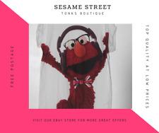OFFICIAL Sesame Street Elmo White T-shirt tshirt Tee
