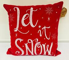 Luxury LED Light Up Christmas Cushion Pillow - Let It Snow