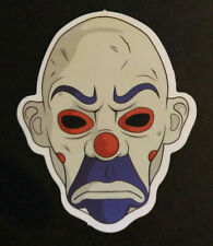 Scary Mean Face Clown Horror Head Skateboard / Snowboard Bumper Sticker Decal