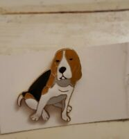 "Beagle pin jewelry fashion costume jewelry 3/4"" dog gold tone enamel"