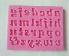 Silicone A~Z Alphabet Letter Trays Cake Mould Fondant Chocolate Cookies Ice Mold