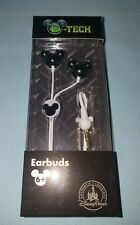Disney Parks D-Tech Mickey Moues Black Earbuds Ear Phones Headphones NEW
