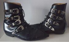 Vintage 80's Winklepicker Boots Size 9 Trad Goth Indie