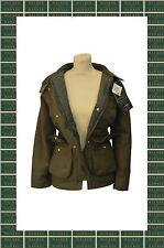Zip Hip Length Wool Blend Check Coats & Jackets for Women