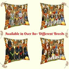 Fall Festival Gathering Pillows, Dogs, Cats, Pet Photo Pillows, Home decor gifts
