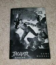 Wolfenstein 3D Game Manual - Atari Jaguar Instruction Book NTS/C Authentic RARE