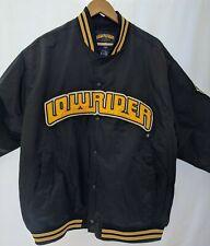 RARE LOWRIDER GoLo Jacket Lowrider Collection Lowrider Logo Large Print Black XL