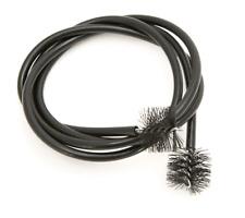 More details for trombone cleaning snake & brush - vinyl/rubber coated - gentle bristles - 110cm