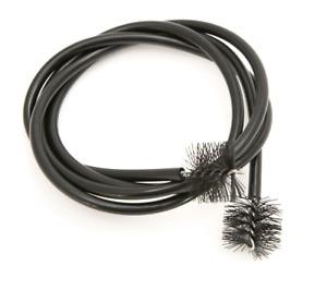 Trombone Cleaning Snake & Brush - Vinyl/Rubber Coated - Gentle Bristles - 110cm