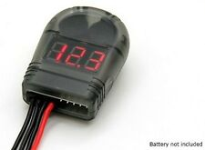 Turnigy LiPo Batterie Testeur de tension 2-8 S & Low Voltage Buzzer Alarm orangerx UK