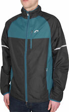 More Mile Wind Water Resistant Select Woven Mens Running Jacket Black