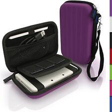 Lila EVA Hart Tasche Schutzhülle fur Neu Nintendo 3DS Etui Case Beutel Cover