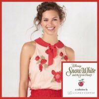 LC Lauren Conrad Disney Snow White Rose Blouse SIZE LARGE