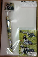 New Bearded Collie Dog Playing Card Pen Note & Pad Set By Ruth Maystead Dogs