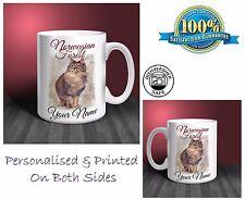 Norwegian Forest Cat Personalised Ceramic Mug: Perfect Gift. (CA09)