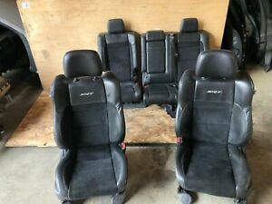 JEEP GRAND CHEROKEE SRT 2011-2017 OEM FRONT REAR LEATHER SUEDE SEAT SEATS 72K